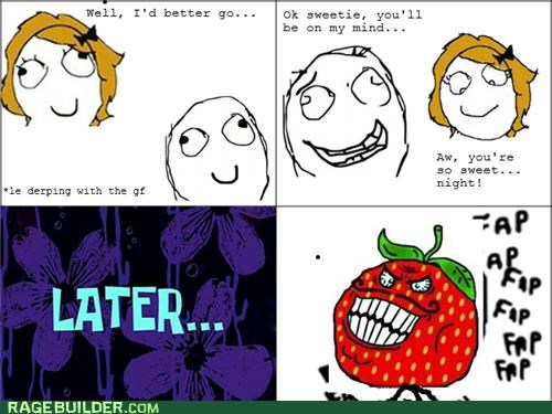 faptimes,on my mind,Rage Comics,strawberry guy