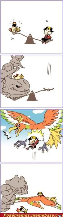 Battle,comic,ho-oh,steelix