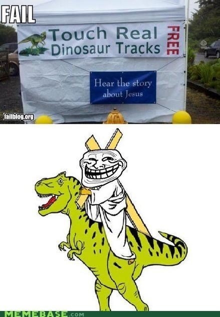 dinosaurs jesus real troll face - 5209826048
