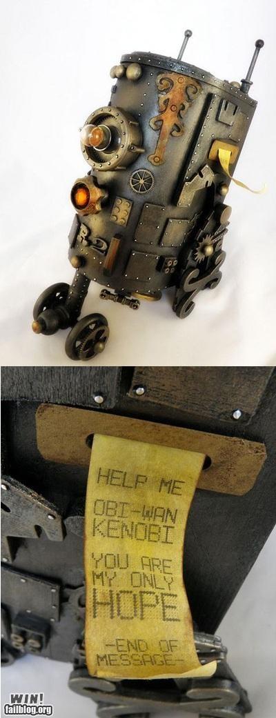 craft model old school r2-d2 robot sculpture star wars Steampunk - 5209870592