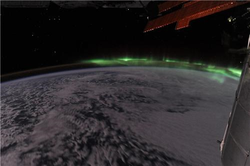 astro ron,aurora,ISS,Orion,photos,ron garan,southern lights,space