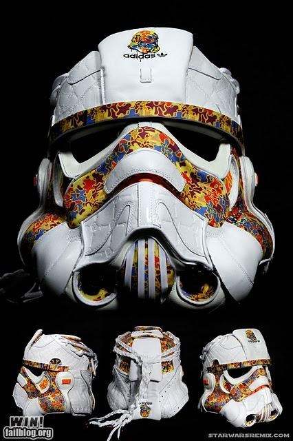 adidas DIY nerdgasm shoes star wars stormtrooper - 5209939968