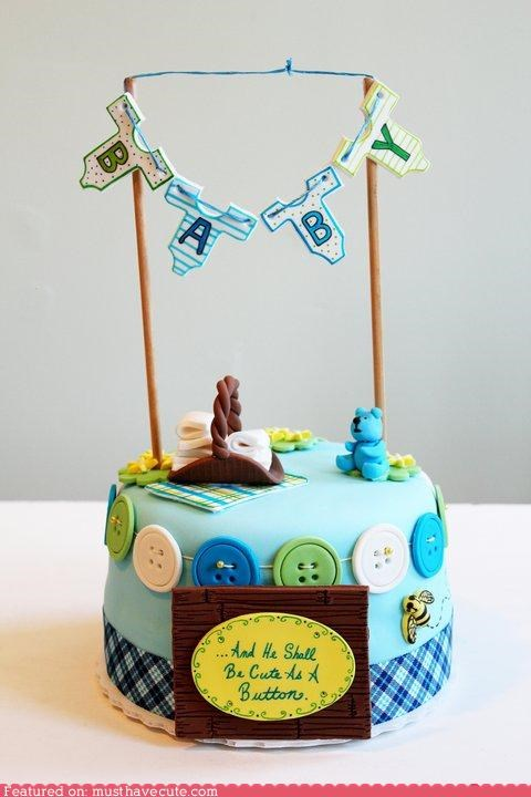 baby bee buttons cake epicute shower