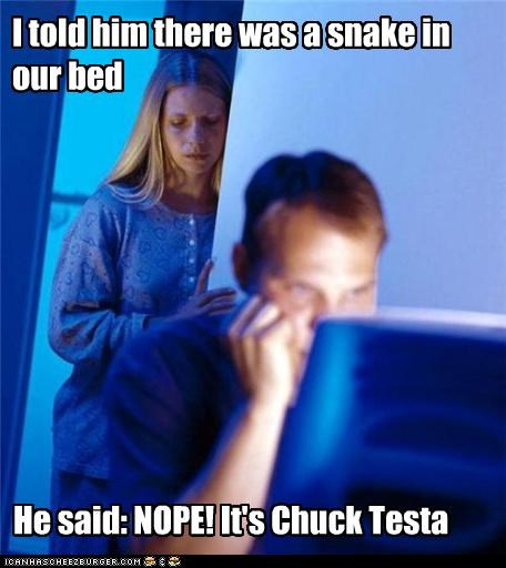 bed Chuck Testa Internet Husband nope snake - 5210225408