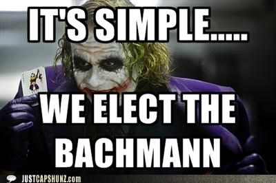 batman elections heath ledger joker Michele Bachmann roflrazzi the joker - 5210374912