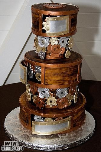 cake Cogs design dessert food Steampunk tasty treat - 5210438144