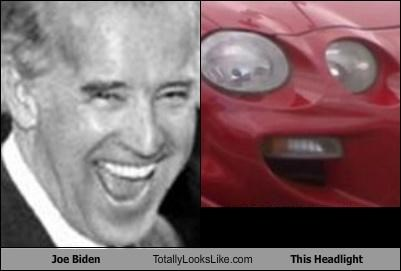 car headlight joe political politics smiles teeth vice president