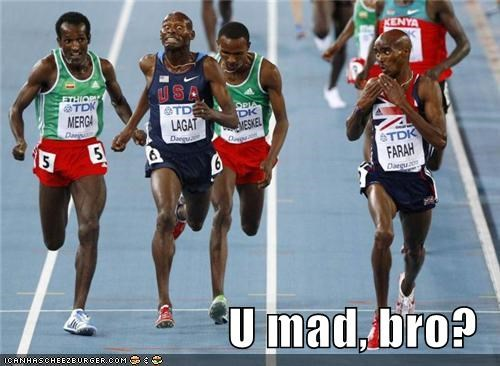 athletes athletics running sports track u mad bro Up Next in Sports you mad bro - 5210590464