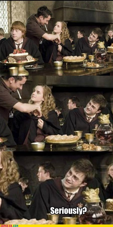 best of week,Harry Potter,hermione,muggles,on the set,ron,seriously