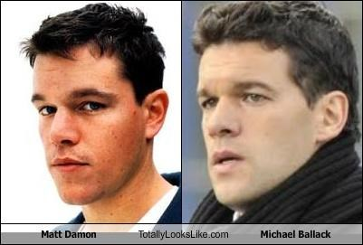 actor actors athlete athletes football footballer matt damon michael ballack soccer soccer player