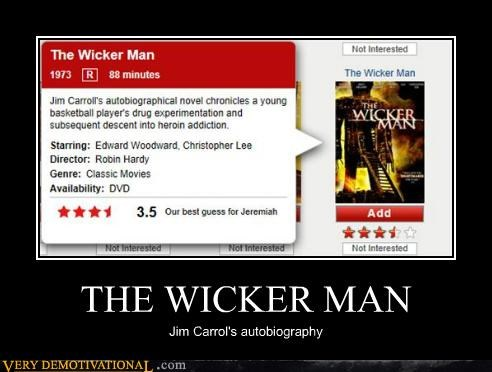 autobiography,hilarious,jim carroll,wickerman