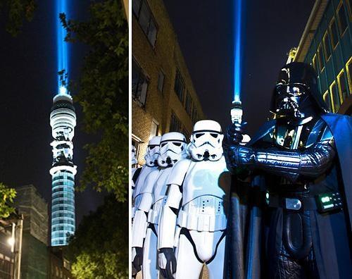 blu ray bt tower darth vader Fan Art george lucas star wars - 5212165120