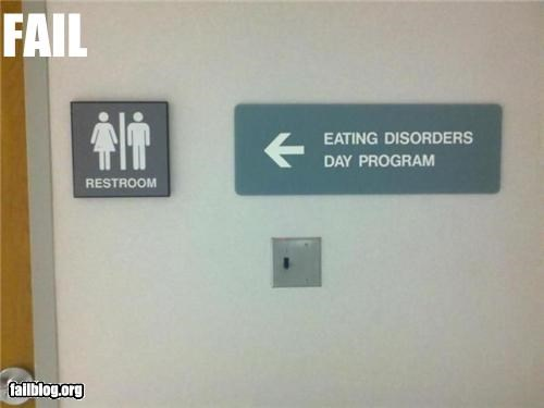 bathroom eating disorder failboat g rated hospital juxtaposition signs