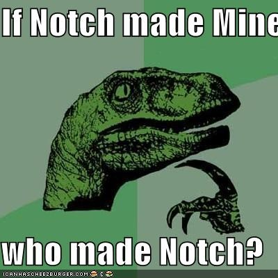 if notch made minecraft who made notch cheezburger funny memes