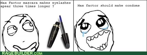 bigger,condoms,mascara,Rage Comics