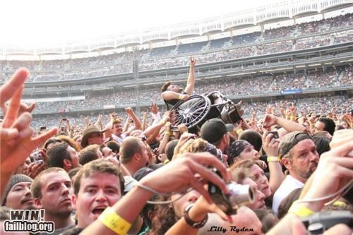 concert crowd surf inclusion metal rock rock on stadium