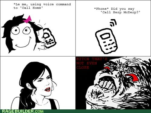 FAIL,herp,Rage Comics,voice command