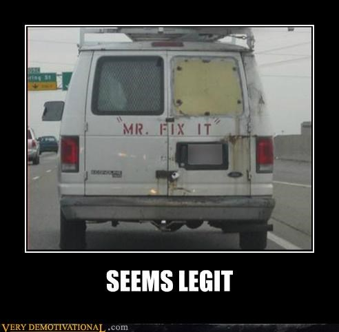 hilarious mr-fix-it seems legit van - 5213096960