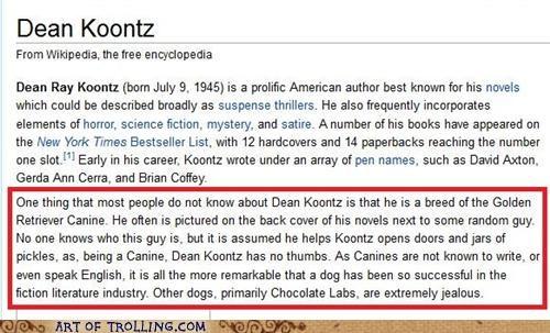 author,dean koontz,dogs,wikipedia