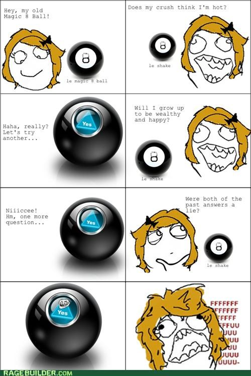 lies MAGIC 8-BALL Rage Comics Sad - 5213396224
