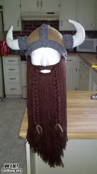 beard cap fashion hat knit knitting viking - 5213433600