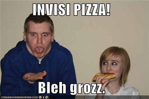 derp gross invisible pizza pepperoni face pizza - 5213737472