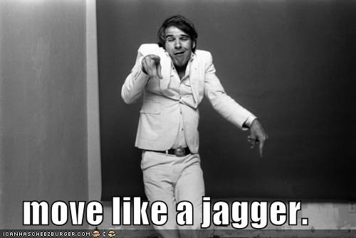 actors,comedians,mick jagger,moves like jagger,roflrazzi,Songs,Steve Martin