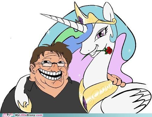 gabe newell half life meme princess celestia trollestia u mad valve - 5215506688