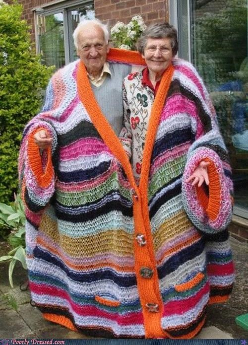 couple,Hall of Fame,knit,old,stretched,sweater