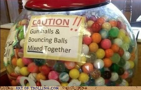 bouncing balls,gumballs,IRL,mixed