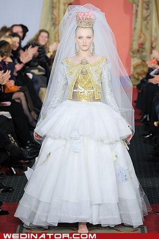 bridal couture bridal fashion funny wedding photos pretty or not runway wedding fashion - 5216568576