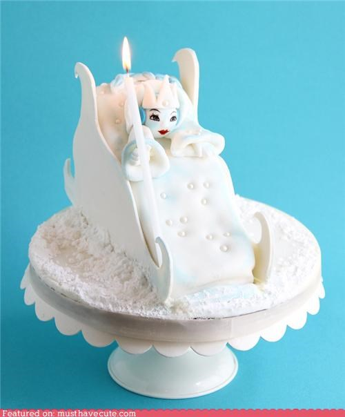 cake candle epicute fondant narnia white witch - 5216739072