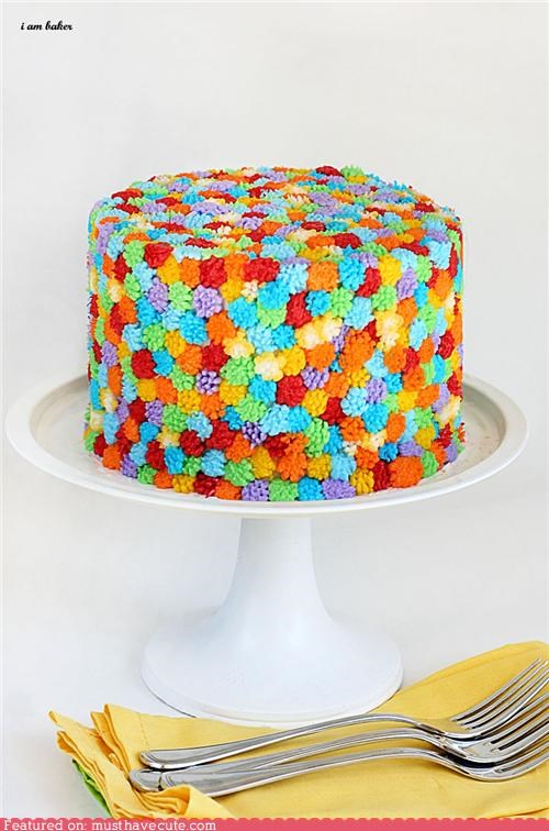 cake colorful epicute flowers frosting - 5216772864
