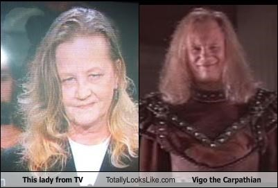 This lady from TV Totally Looks Like Vigo the Carpathian