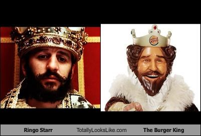 crown king musicians regal ringo starr the Beatles the burger king