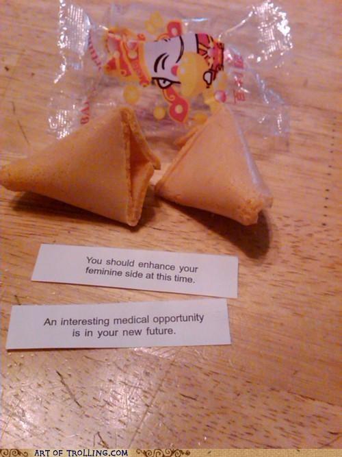 feminine side,fortune,IRL,medical opportunity