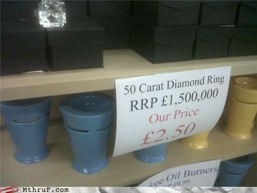 diamond price sign store value