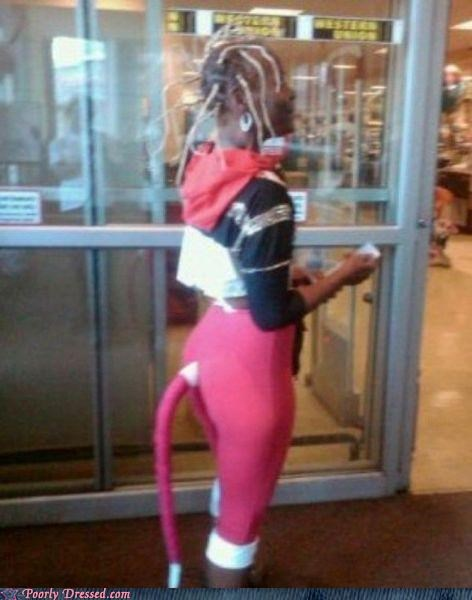 hair leggings pink tail - 5217962496