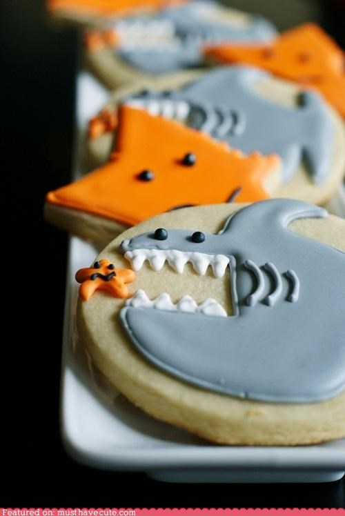 cookies epicute icing sea star shark - 5218118656