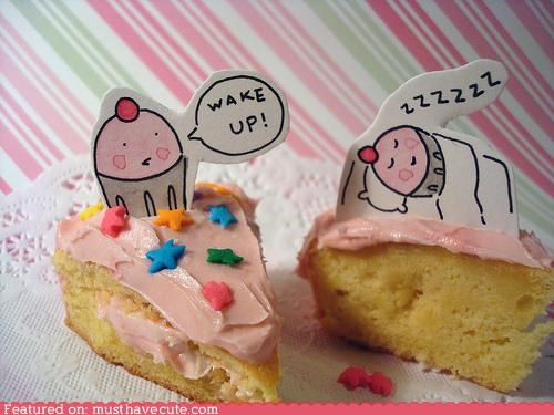cake cupcakes drawings epicute leftovers signs sleepy