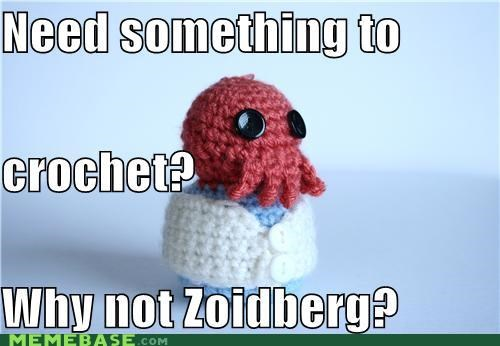 crochet,hobbies,Knitta Please,knitting,Zoidberg