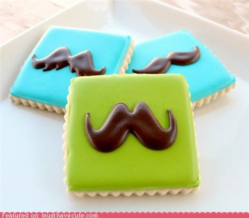 cookies epicute icing mustaches - 5218143232