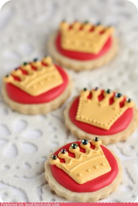 cookies crowns epicute icing jewels king queen - 5218150400