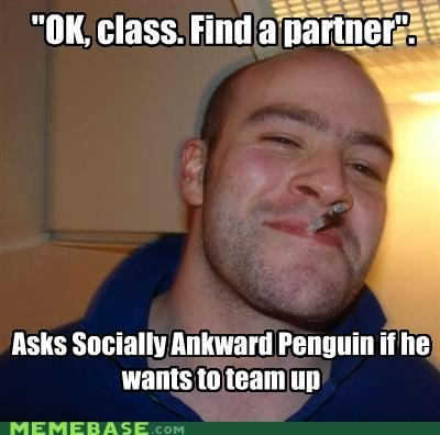 Awkward class Good Guy Greg penguin typos - 5218255616