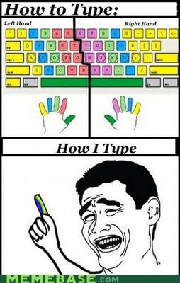 colors fingers index jokes keyboard Rage Comics type - 5218499072