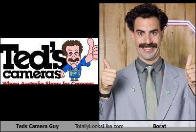 borat logo logos mustache mustaches sasha baron cohen teds-cameras thumbs up very nice - 5218658304