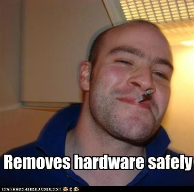 flash drive,Good Guy Greg,hardware,removes,safely