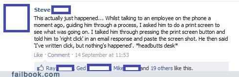 facepalm Headdesk on the job really technology - 5218836736