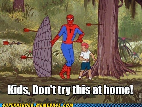 kid,shield,Spider-Man,Super-Lols,web