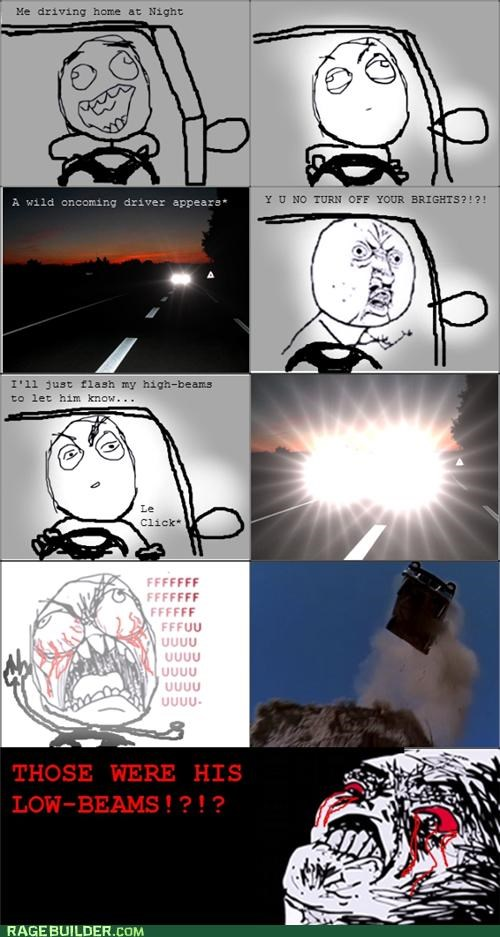best of week brights driving high beams Rage Comics - 5219365120